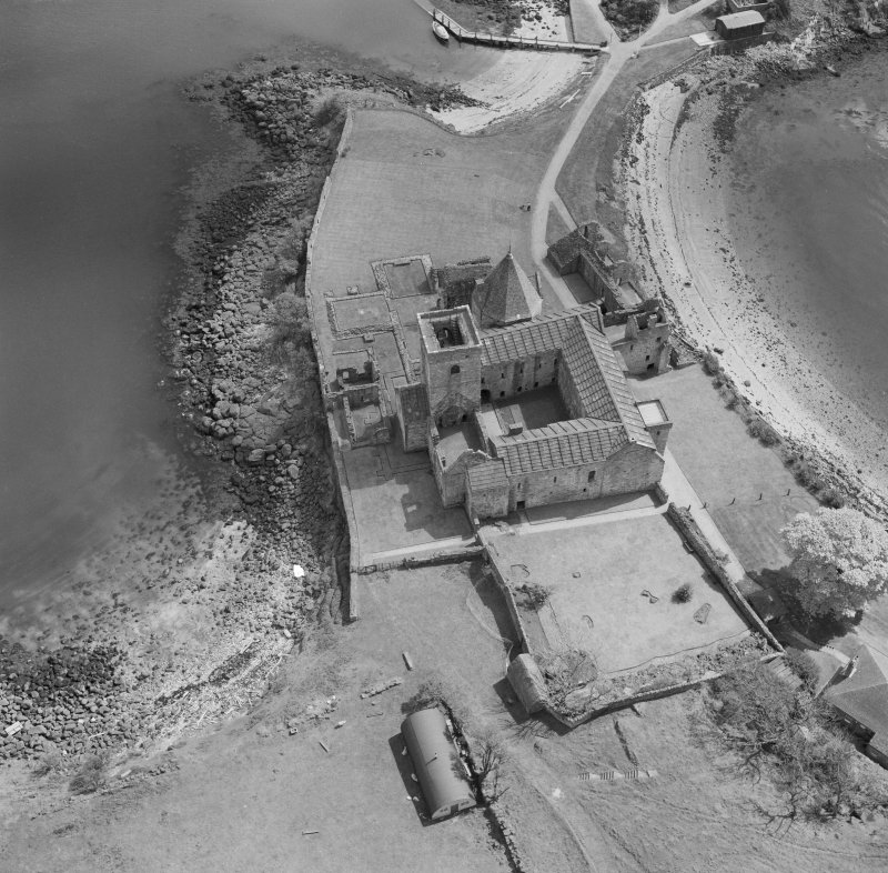 Oblique aerial view of Inchcolm Abbey