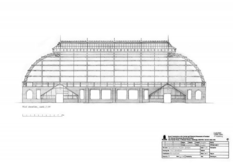 Springburn Park, Winter Gardens: West Elevation