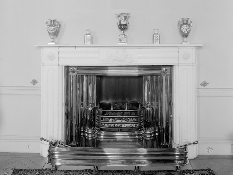 Interior. Drawing room, detail of chimneypiece.