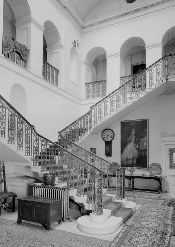 Interior. View of stair hall.