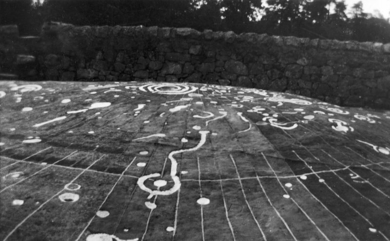 Site photograph : detail of markings