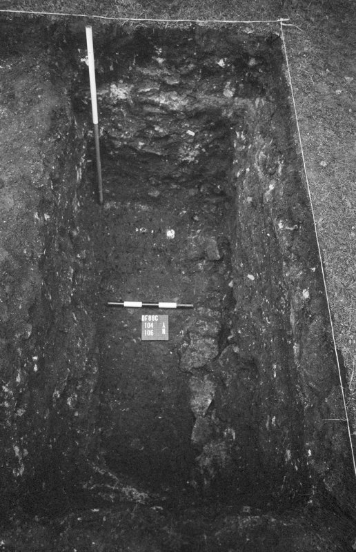 Excavation photograph : record shot of 104, 106, looking north.