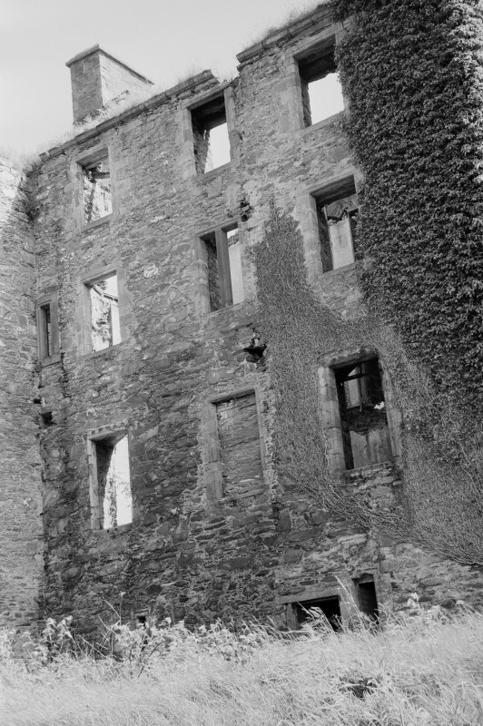 Detail of elevation of Ravenstone Castle from W.