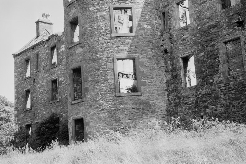 Detail of N tower, Ravenstone Castle.