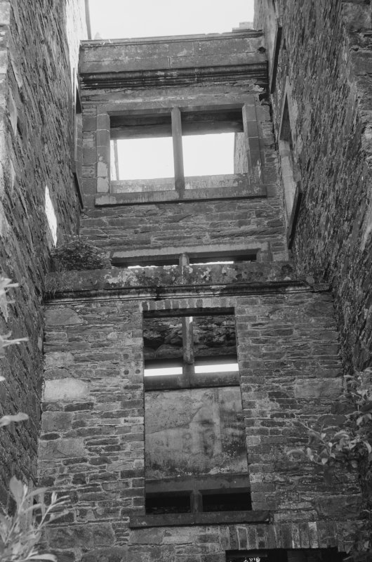 Detail of windows in passage linking elevations, Ravenstone Castle.