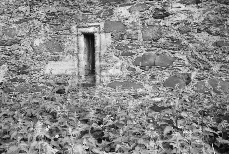 Detail of gun hole, Ravenstone Castle.