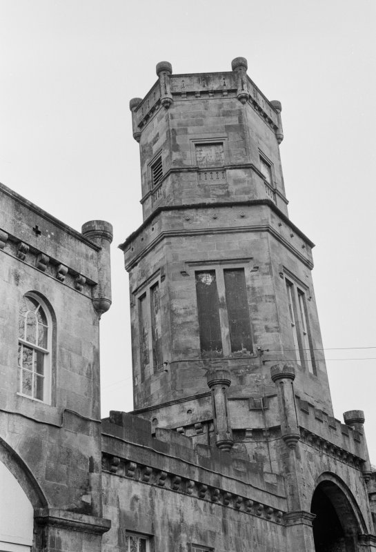 Detail of entrance tower, Gelston Castle.