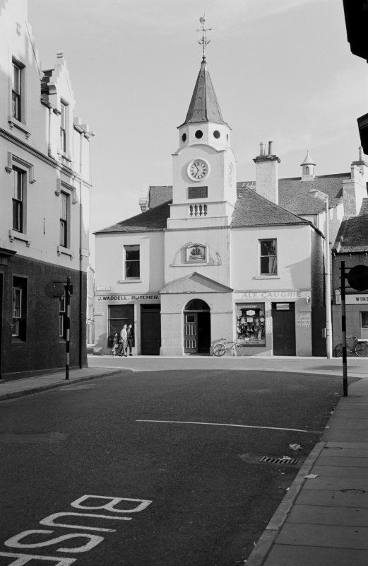 View of north elevation of Old Town Hall, Stranraer, from Queen Street.