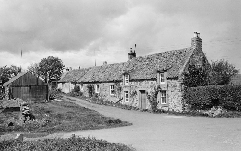 View of smithy and cottage, Clappers, from S.