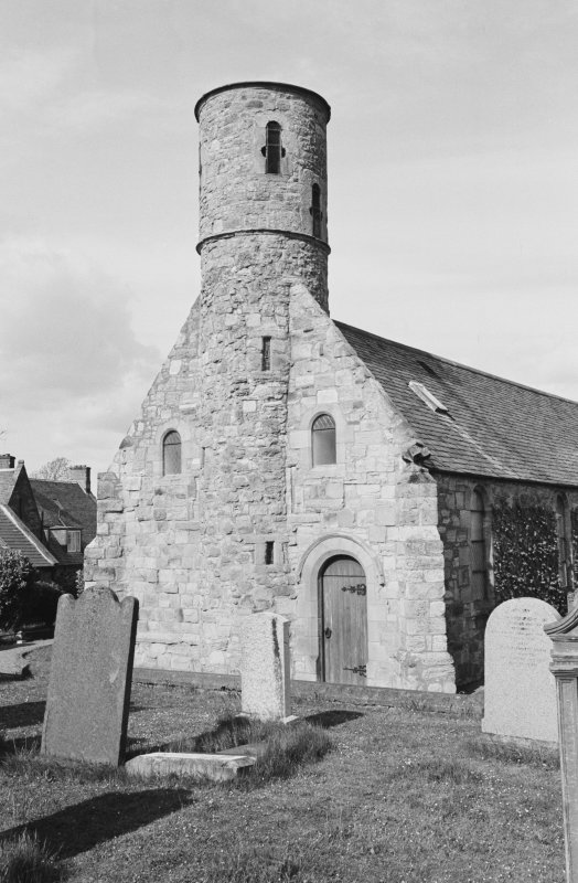 View of Cockburnspath Parish Church from SW.