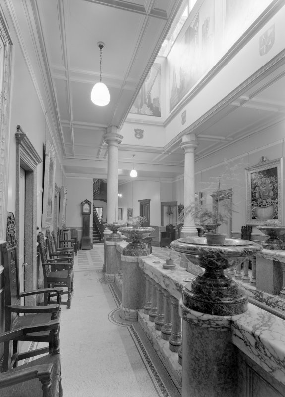 Interior view of Trinity Hall, Union Street, Aberdeen, showing main entrance hall.