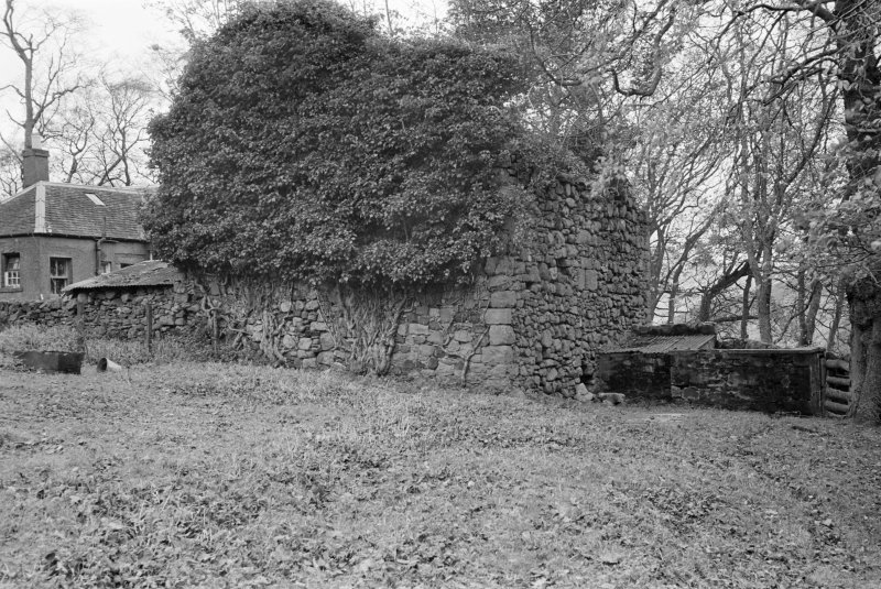 View of remains of Logan House from SW.