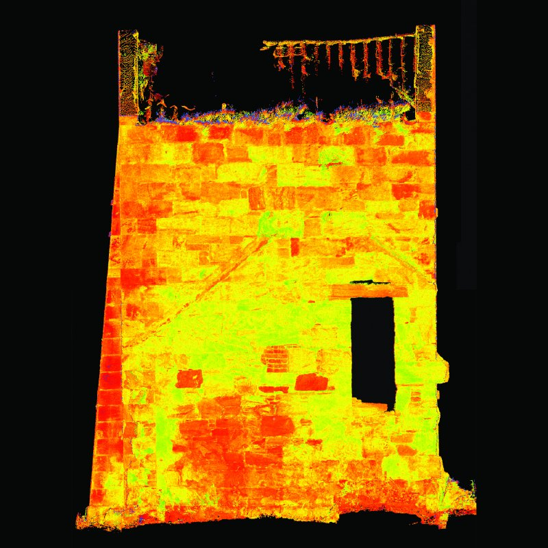 Publlicity image of scan data - Thornton Middlefield Beam Engine House - not to scale