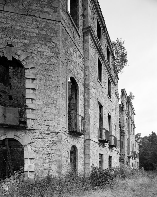 Minto House, during demolition View of South front from South West