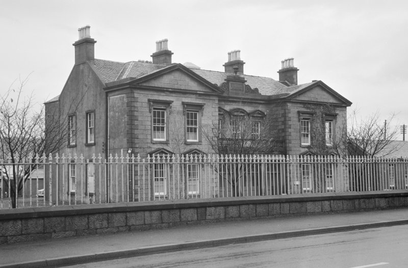 View of south elevation of Belford Hospital, Fort William, from roadside.