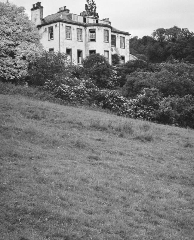 General view of Ballechin House from garden looking up.