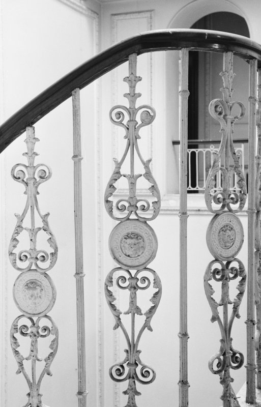 Interior view of Ballechin House showing detail of balusters.
