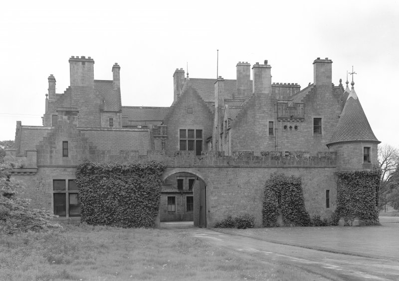View of Udny Castle showing north elevation.