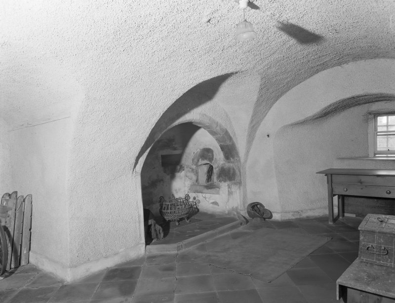 Interior view of Udny Castle showing original kitchen.