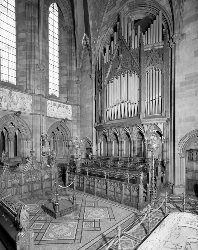 Interior. View of chancel from SW.