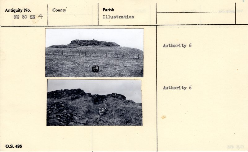 Photographs, copied from OS '495' card