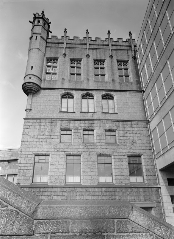 View of Trinity Hall, Union Street, Aberdeen showing the west facade from Denburn Road.