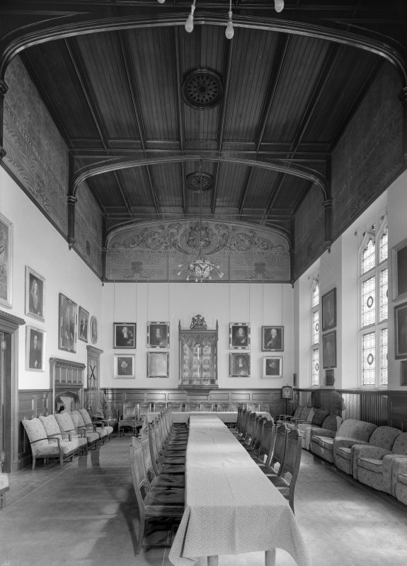 Interior view of Trinity Hall, Union Street, Aberdeen, showing minor hall.