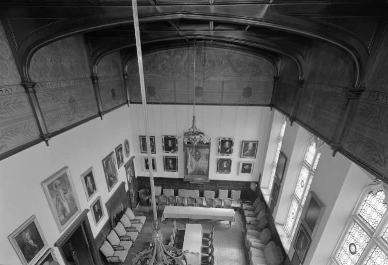 Interior view of Trinity Hall, Union Street, Aberdeen, showing minor hall from above