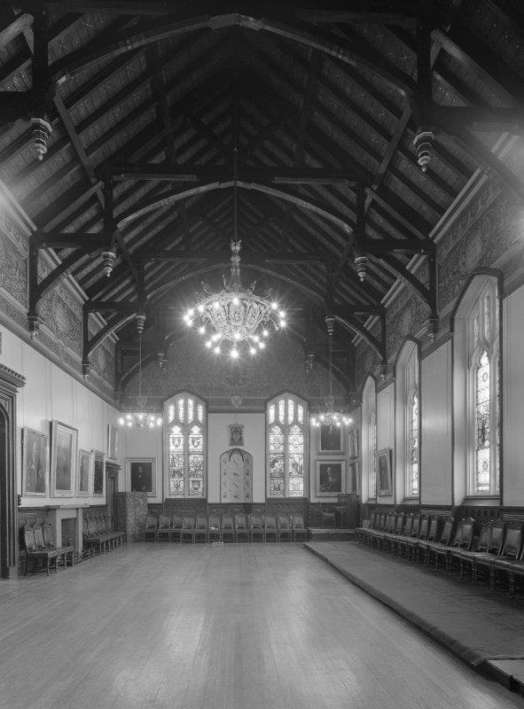 Interior view of Trinity Hall, Union Street, Aberdeen, showing large hall.
