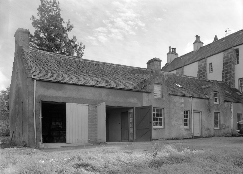 View of Corsindae House from north including outbuildings.