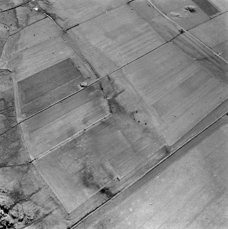 Oblique aerial view of Cladh an Diseart, Iona.
