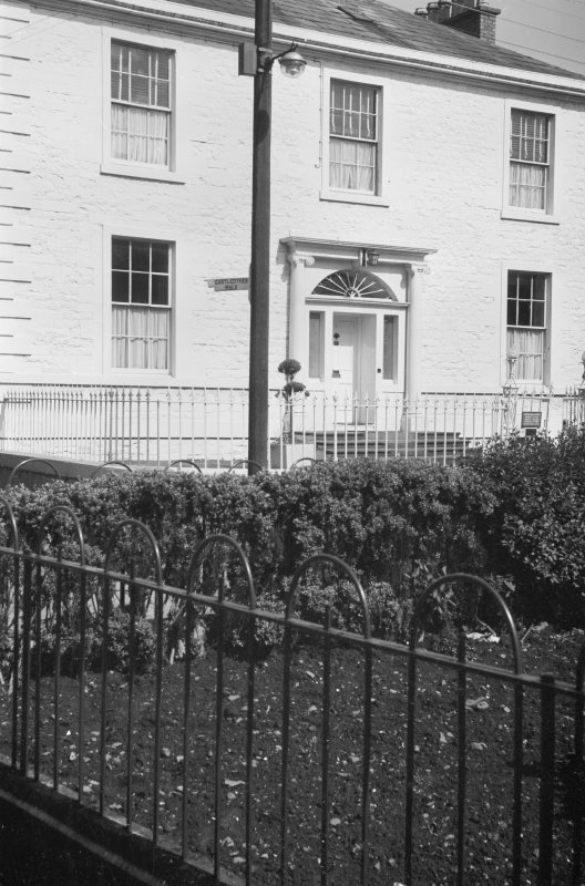 View of SE elevation, Blair House, 8 High Street, Kirkcudbright, from S.