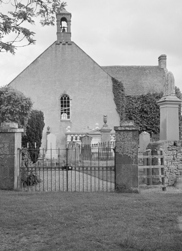 General view of Kiltearn Parish Church and gates to churchyard.
