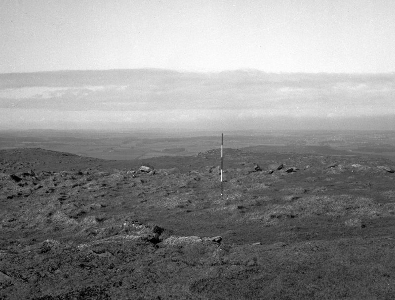 Excavation photograph, enclosure W of trig point