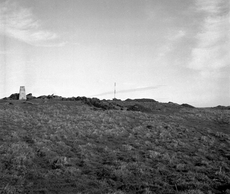 Excavation photograph. View of the summit area during trial trenching, facing NE
