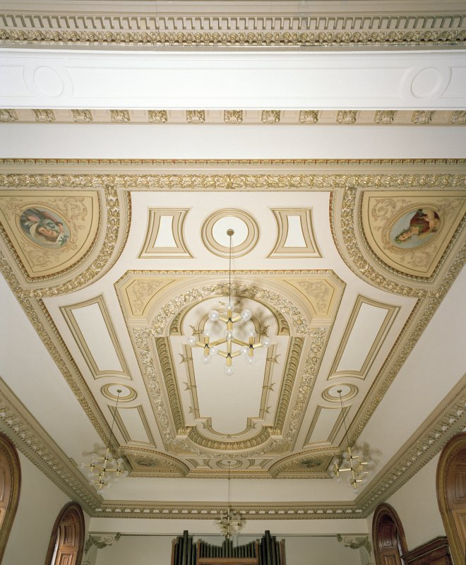 Detail of chapel ceiling.