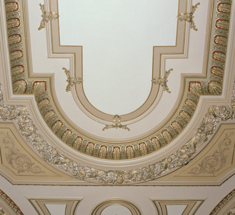 Detail  of end relief on chapel ceiling.