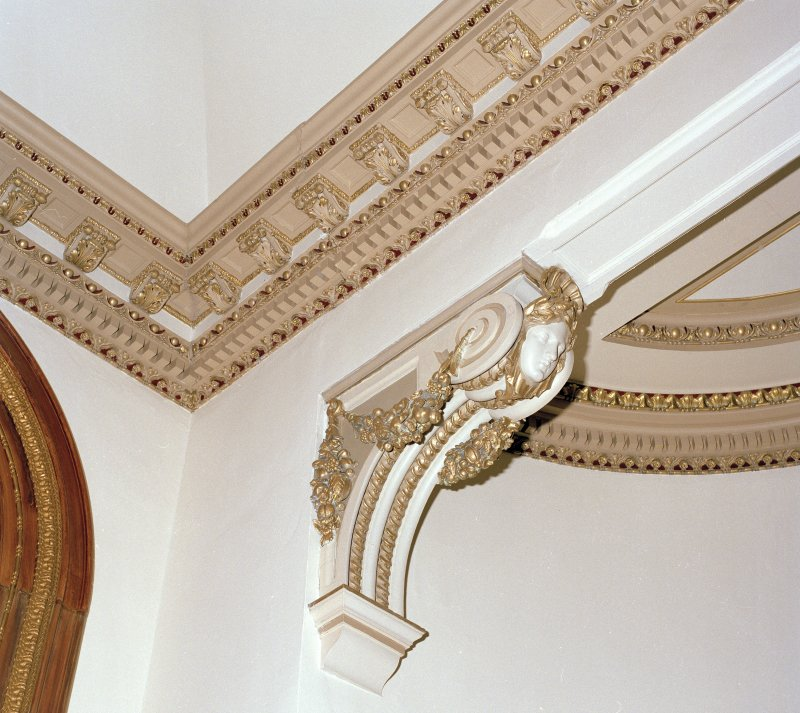 Sample of plaster cornice and bracket.