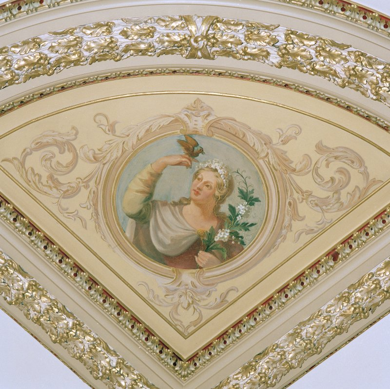 Detail of roundel on Chapel ceiling.