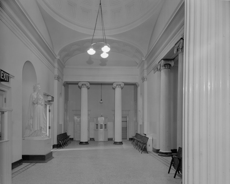 Interior view of the Music Hall, 174-194 Union Street, Aberdeen, showing the lobby.