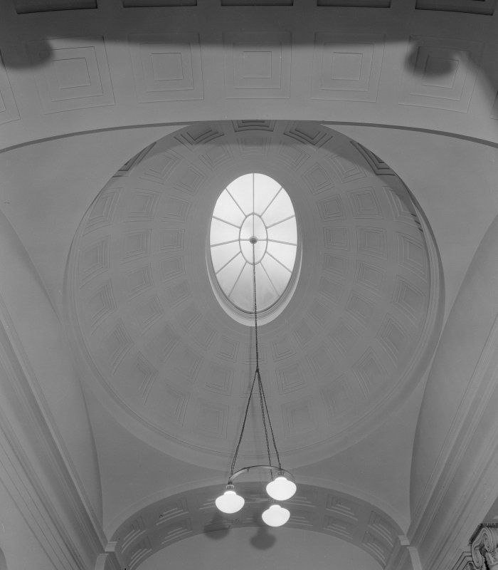 Interior view of the Music Hall, 174-194 Union Street, Aberdeen, showing detail of entrance hall dome.