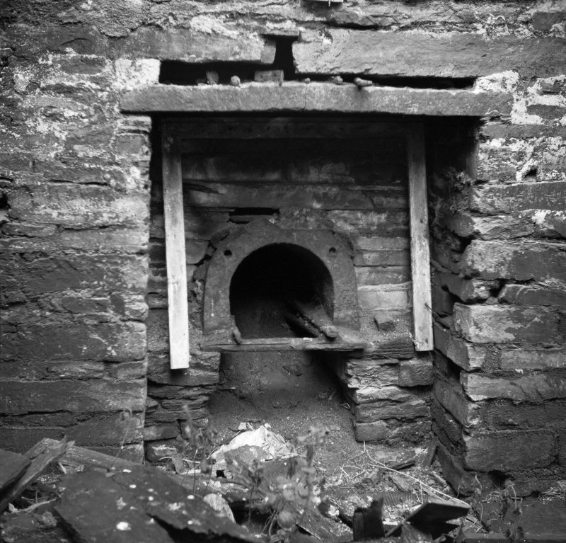Interior. Detail of kiln fire box.