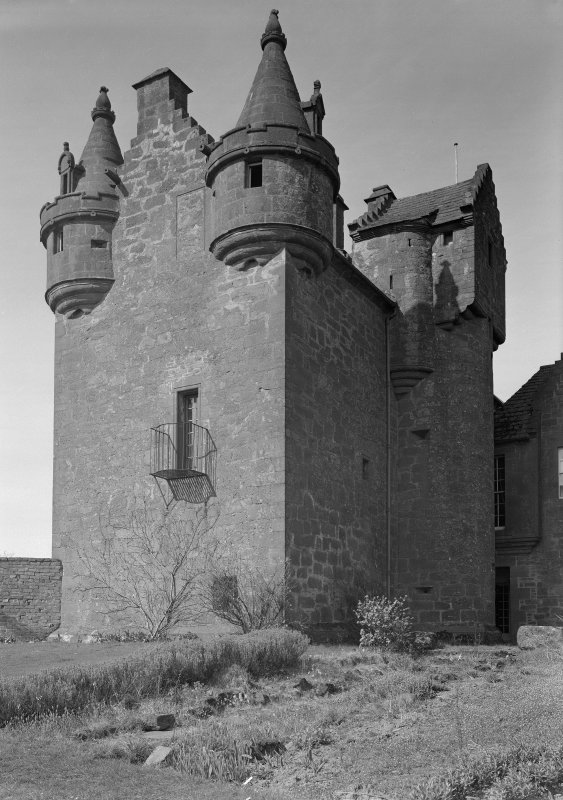 View of Gardyne Castle from NE.
