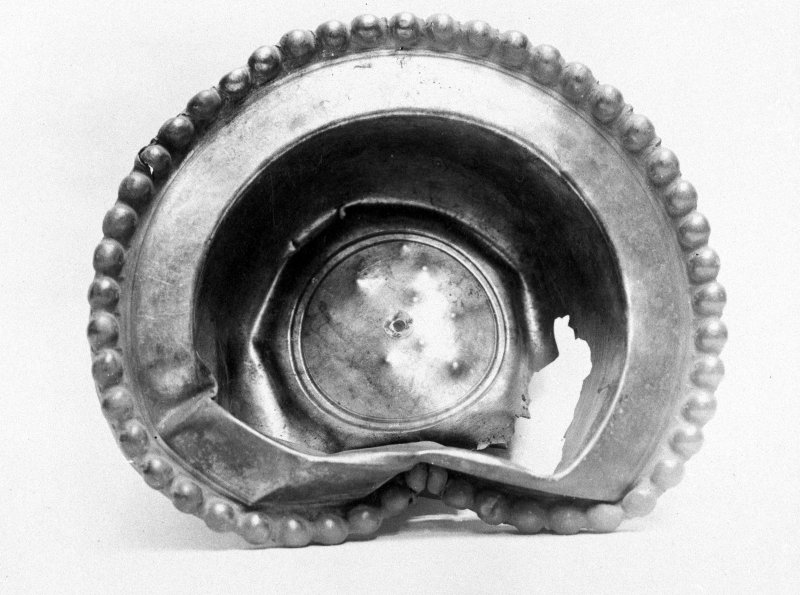 "Traprain treasure - ""a beaded bowl"". From a photograph album of the Curle family, 1911-19."
