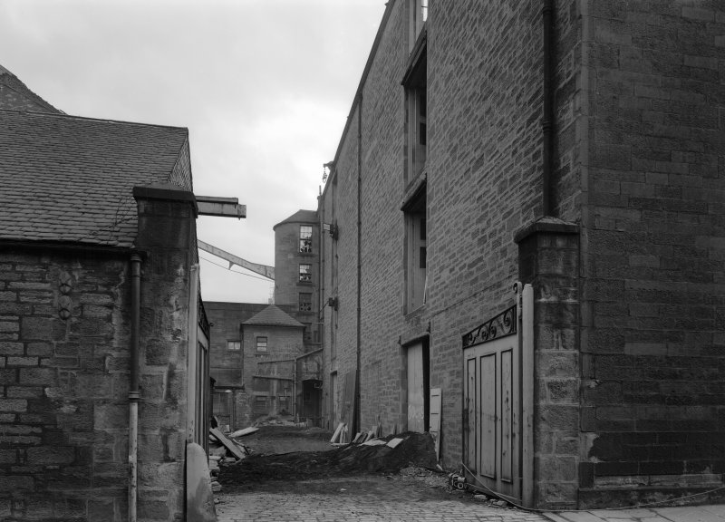 View of gateway to yard, Ward Mills, Dundee prior to demolition.