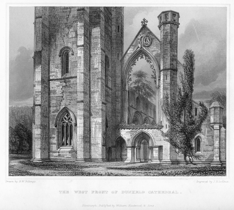 View of west front, Dunkeld Cathedral.