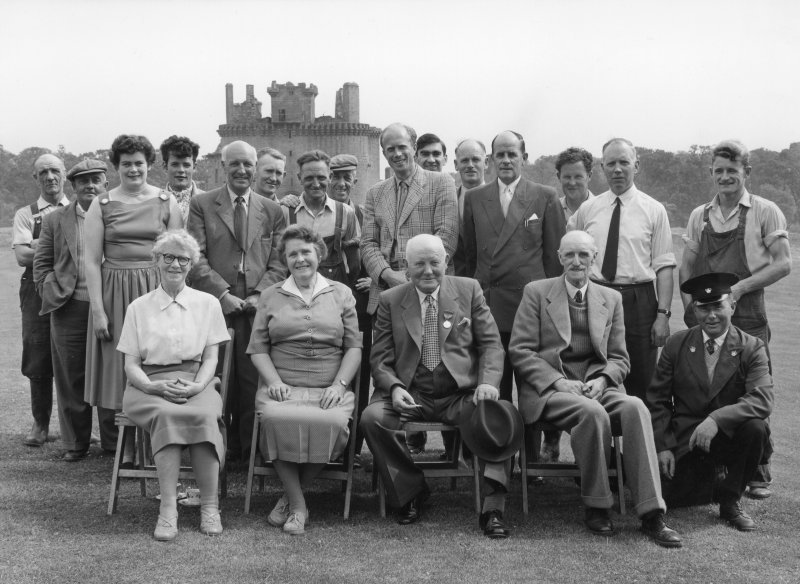 Excavation photographs:  Presentation to former custodian at Caerlaverock.