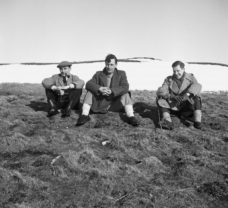 Photograph of S Cruden, S Piggott and R Stevenson (filed Archaeologists).