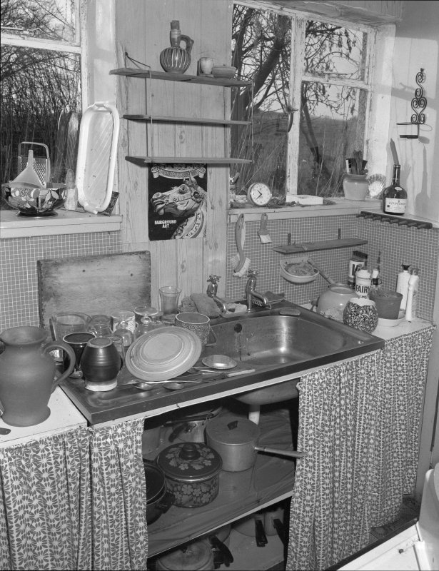 Interior. View of kitchen.