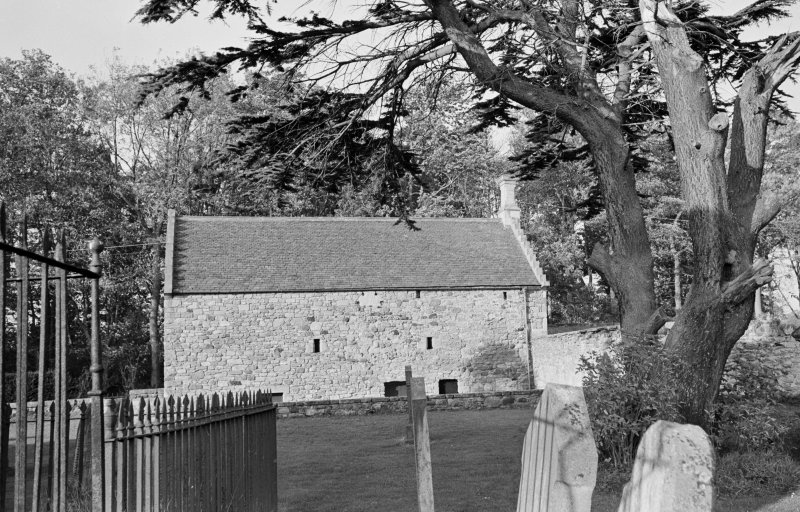 View of the tithe barn, Foulden, S.